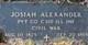 Pvt Josiah Alexander