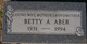 Profile photo:  Betty A. Aber