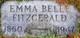 Emma Belle <I>Frye</I> Fitzgerald