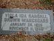 Viola Ida Randall <I>Brown</I> Wangsgard