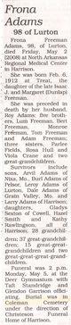 Frona <I>Freeman</I> Adams