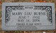 Mary Lou <I>Smith</I> Burns