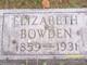 Elizabeth <I>Barry</I> Bowden