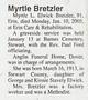 Profile photo:  Myrtle L <I>Elwick</I> Bretzler