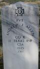 """Andrew Jackson """"Jack"""" Allen"""