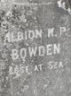 Profile photo:  Albion P Bowden