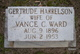Blanche Gertrude <I>Harrelson</I> Ward