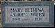 Mary Bethina <I>McKinney</I> McLen