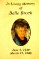 Mary Belle <I>Simmons</I> Brock