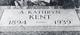 Agnes Kathryn <I>Allum</I> Kent