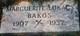 """Marguerite """"Margaret"""" <I>Lukacs</I> Bakos"""