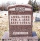 Profile photo:  Anna Mary <I>Stogsdill</I> Fore