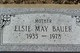 Elsie May <I>Hull</I> Bauer