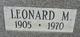 Profile photo:  Leonard Morgan Donaldson