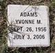 Yvonne M Adams