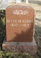 Profile photo:  Bettie Marion <I>Wheeler</I> Adams