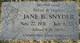 Jane B <I>Anderson</I> Snyder