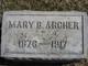Profile photo:  Mary B. <I>Bridgforth</I> Archer
