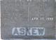 "Adaline Lou ""Addie"" <I>Davis</I> Askew"