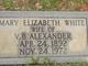 Mary Elizabeth <I>White</I> Alexander