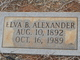 Elva Steward <I>Benson</I> Alexander
