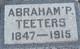 Profile photo:  Abraham P Teeters