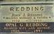 Opal Gladys <I>Adams</I> Redding