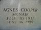 Profile photo:  Agnes <I>Cooper</I> McNair