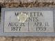 Mary Etta <I>Fisher</I> Brents