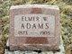 Profile photo:  Elmer W. Adams