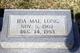 Profile photo:  Ida Mae <I>Stokes</I> Long