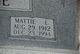 Mattie L Birge