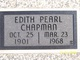 Profile photo:  Edith Pearl Chapman