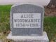 Profile photo:  Alice Amelia <I>Ashley</I> Woodmansee