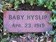 Profile photo:  Baby Hyslip