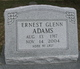 Profile photo:  Ernest Glenn Adams