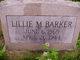 Lillie May <I>McGee</I> Barker