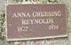 Profile photo:  Anna <I>Gruesing</I> Reynolds