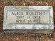Profile photo:  Alice Bolitho