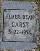 Elmer Dean Garst