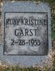 Ruby Kristine Garst