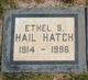 Profile photo:  Ethel S. <I>Hail</I> Hatch