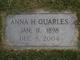 Profile photo:  Anna Sevier <I>Hamilton</I> Quarles