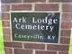 Ark Lodge Cemetery