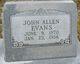 John Allen Evans