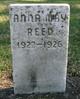 Profile photo:  Anna May Reed
