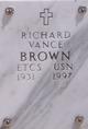 """Profile photo:   Richard Vance """" """" <I> </I> Brown,"""