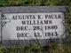 Augusta E <I>Pauls</I> Williams