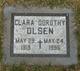 Profile photo:  Clara Dorothy Olsen