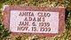 Profile photo:  Anita Cleo Adams